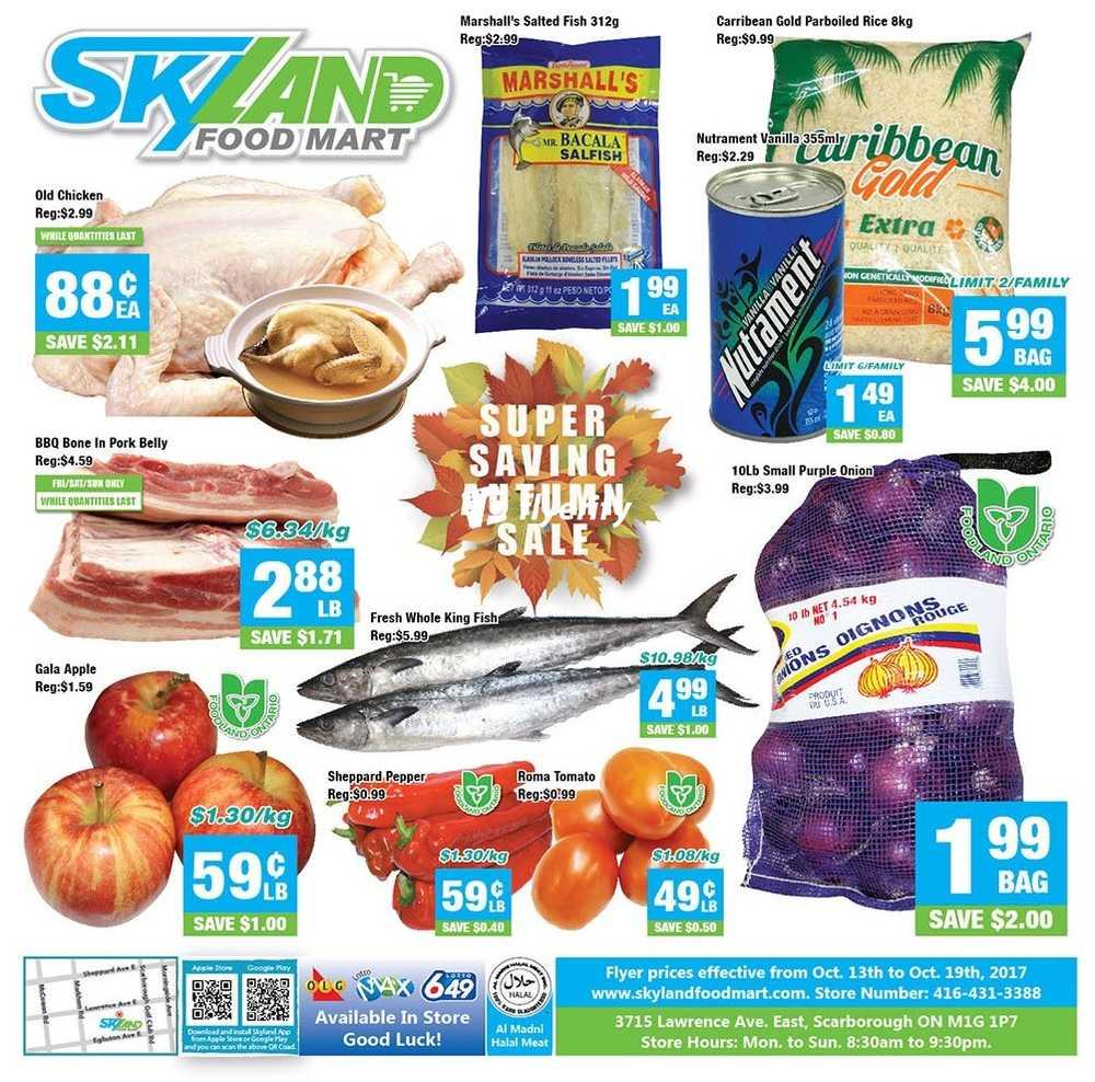Skyland Food Market Flyer
