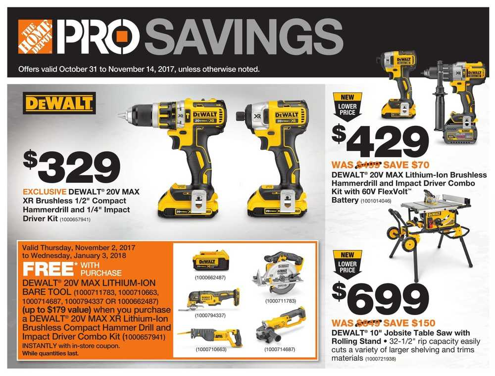 Home Depot Pro Savings Flyer October 31 To November 14 Canada