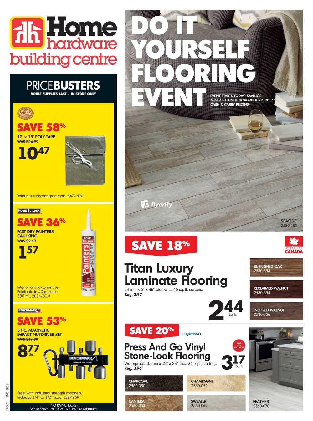 Home Hardware Building Centre Bc Flyer November 15 To 22 Canada