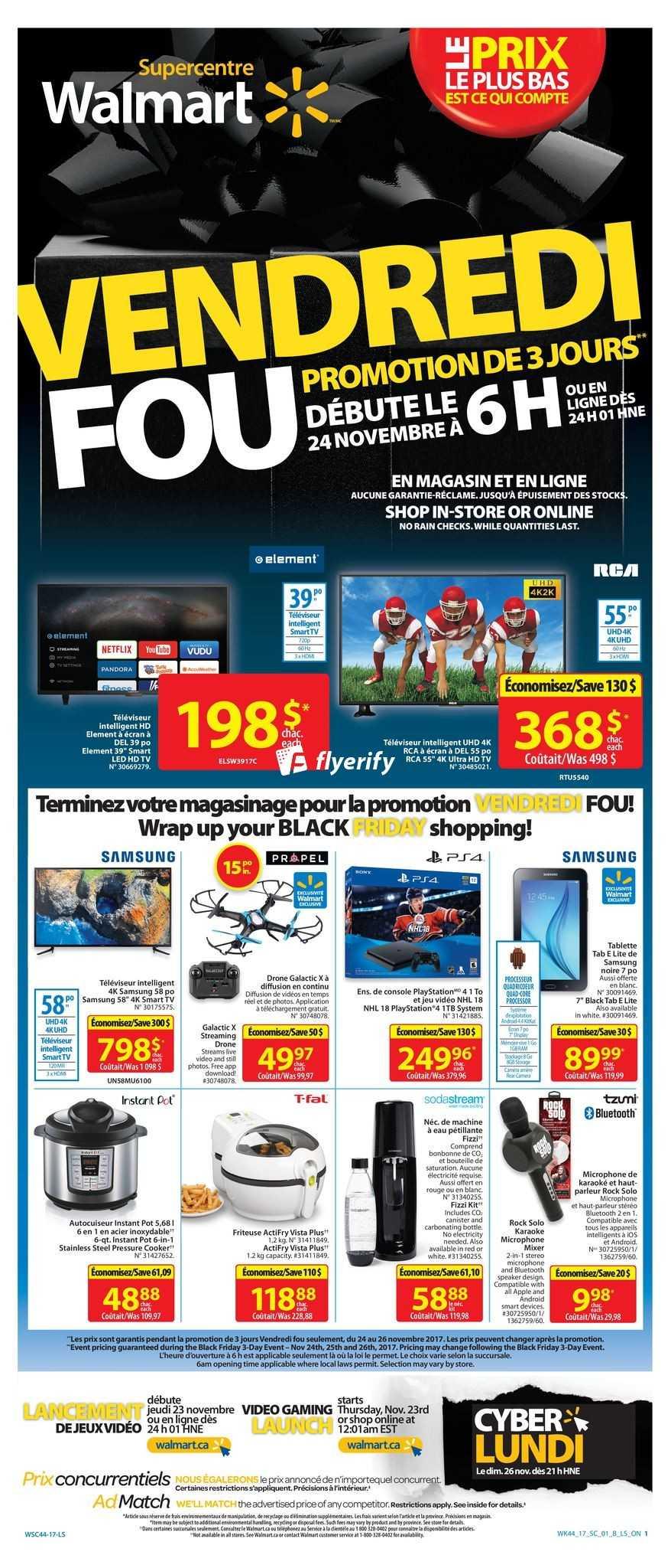 Walmart Qc Canada Black Friday Flyer November 24 To 26