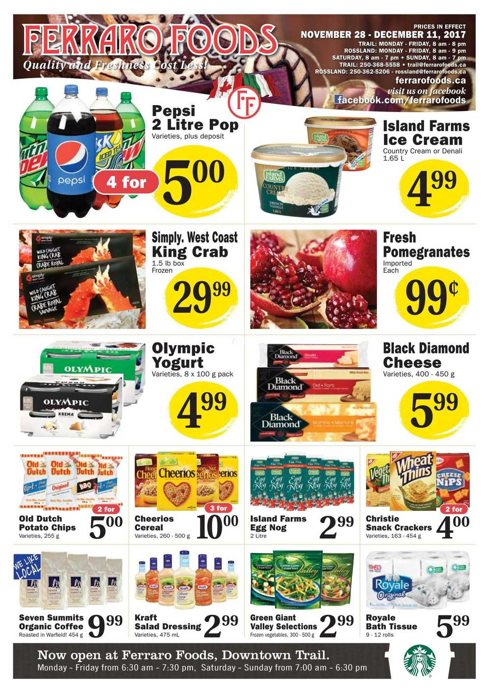 Ferraro Foods Flyer November 28 to December 11 Canada