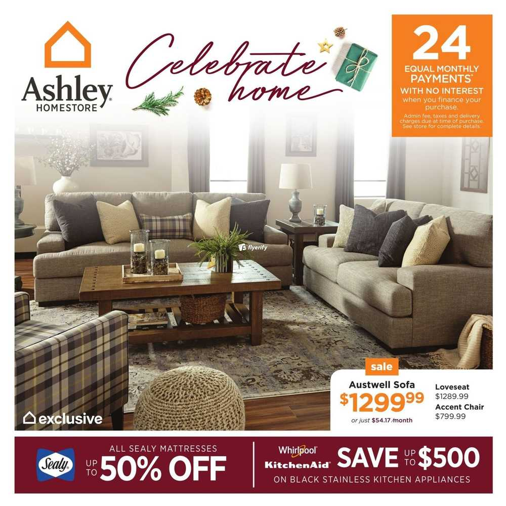 Ashley homestore west flyer november 30 to december 13 for Ashley furniture homestore canada