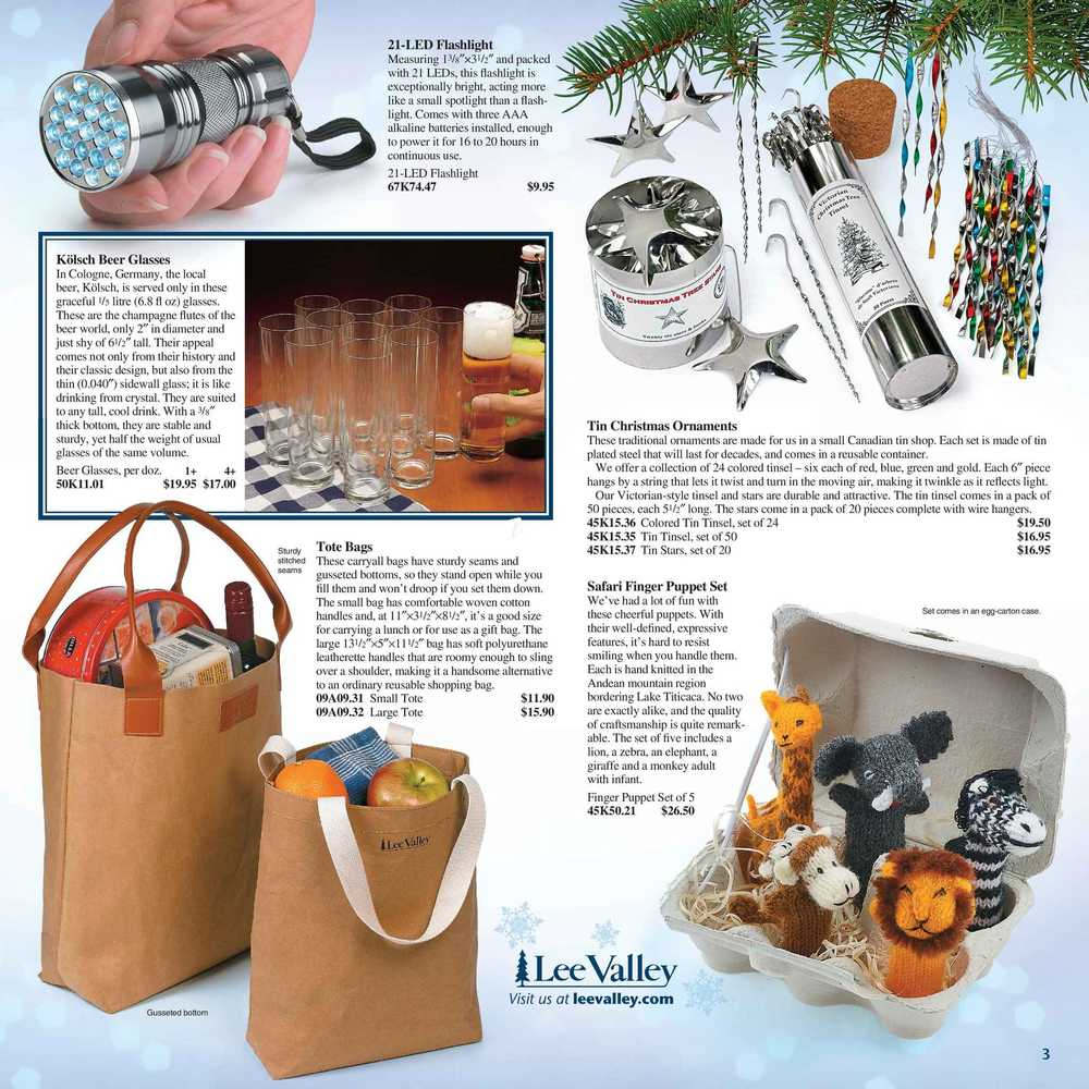 Lee Valley Tools Gift Ideas Catalogue November 30 To December 24