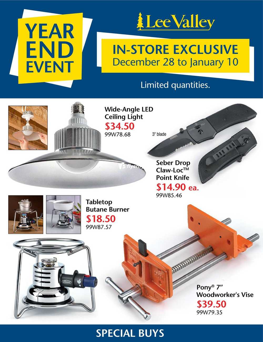 055803e5fa Lee Valley Tools Year End Event Flyer December 28 to January 10 Canada