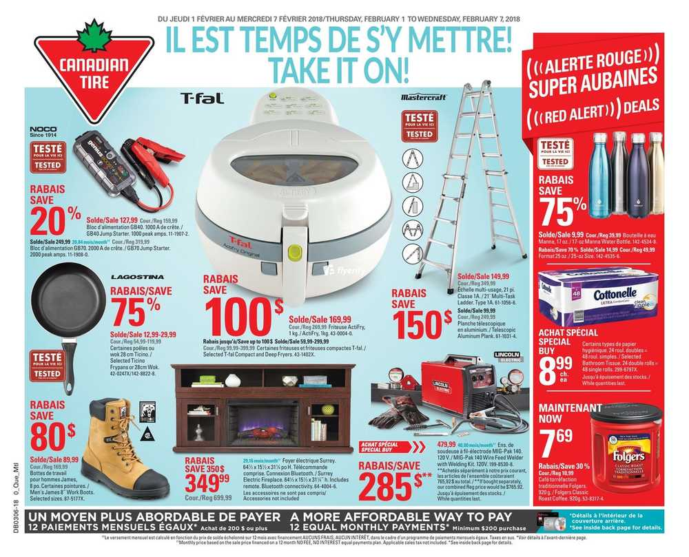 Canadian Tire (QC) Flyer February 1 to 7 Canada