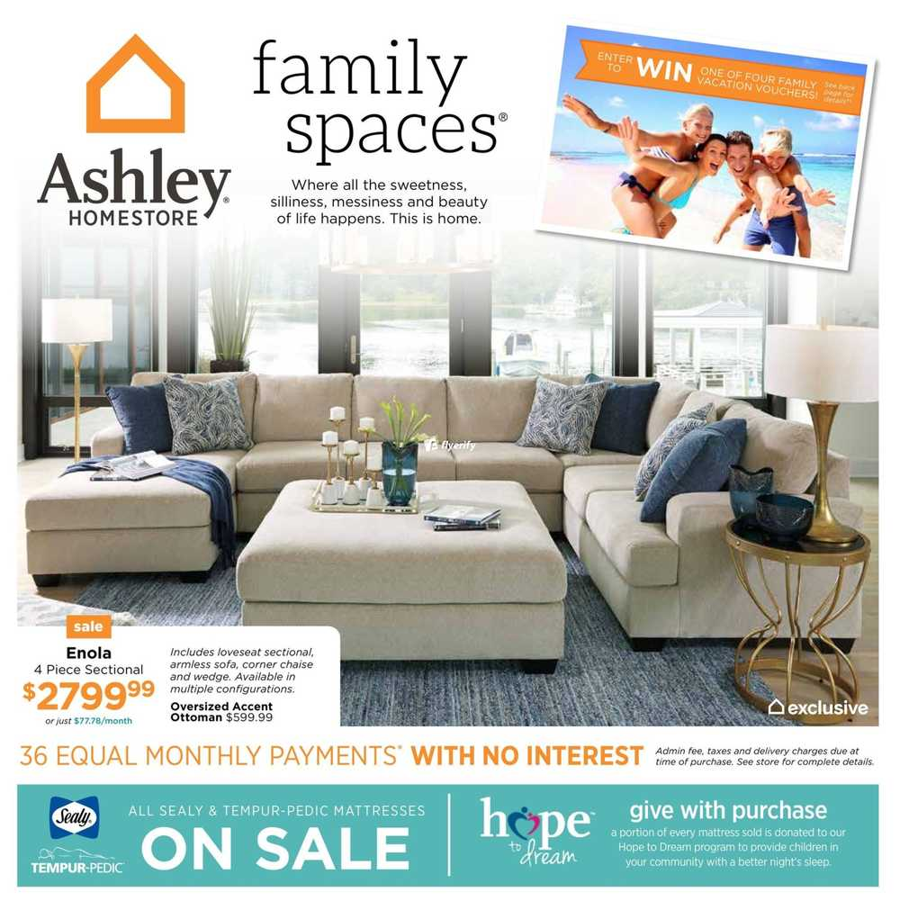 Ashley homestore on flyer february 1 to 14 canada for Ashley furniture homestore canada
