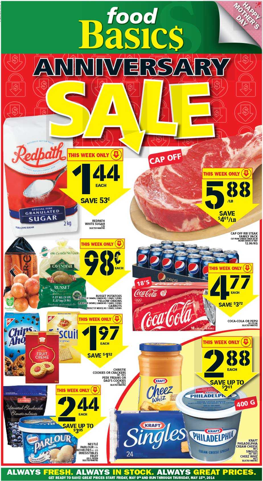 Food basics flyer may 9 to 15 canada for Food pantry near me open on sunday