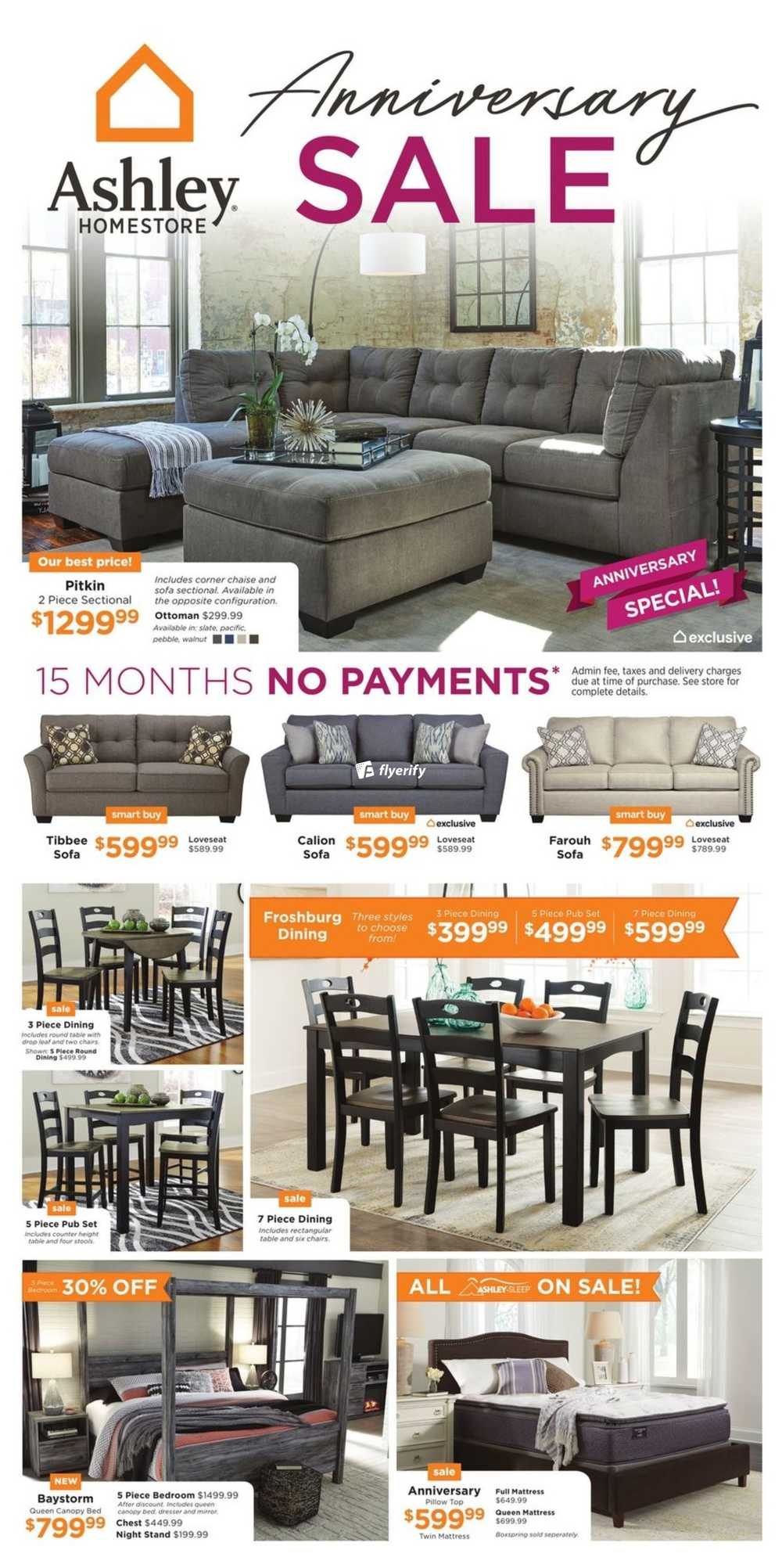 Ashley homestore on flyer march 1 to 21 canada for Ashley furniture homestore canada