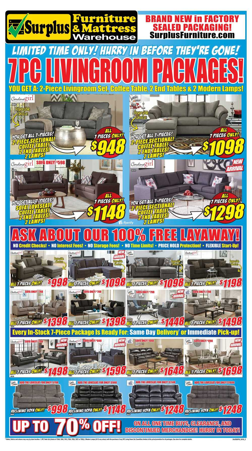 Surplus Furniture U0026 Mattress Warehouse (Grand Falls Windsor) Flyer March 6  To 19
