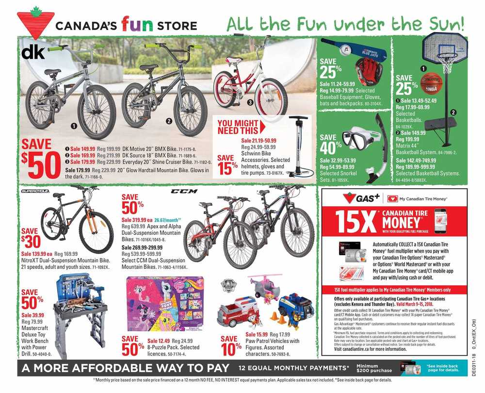 Canadian Tire (ON) Flyer March 9 to 15 Canada