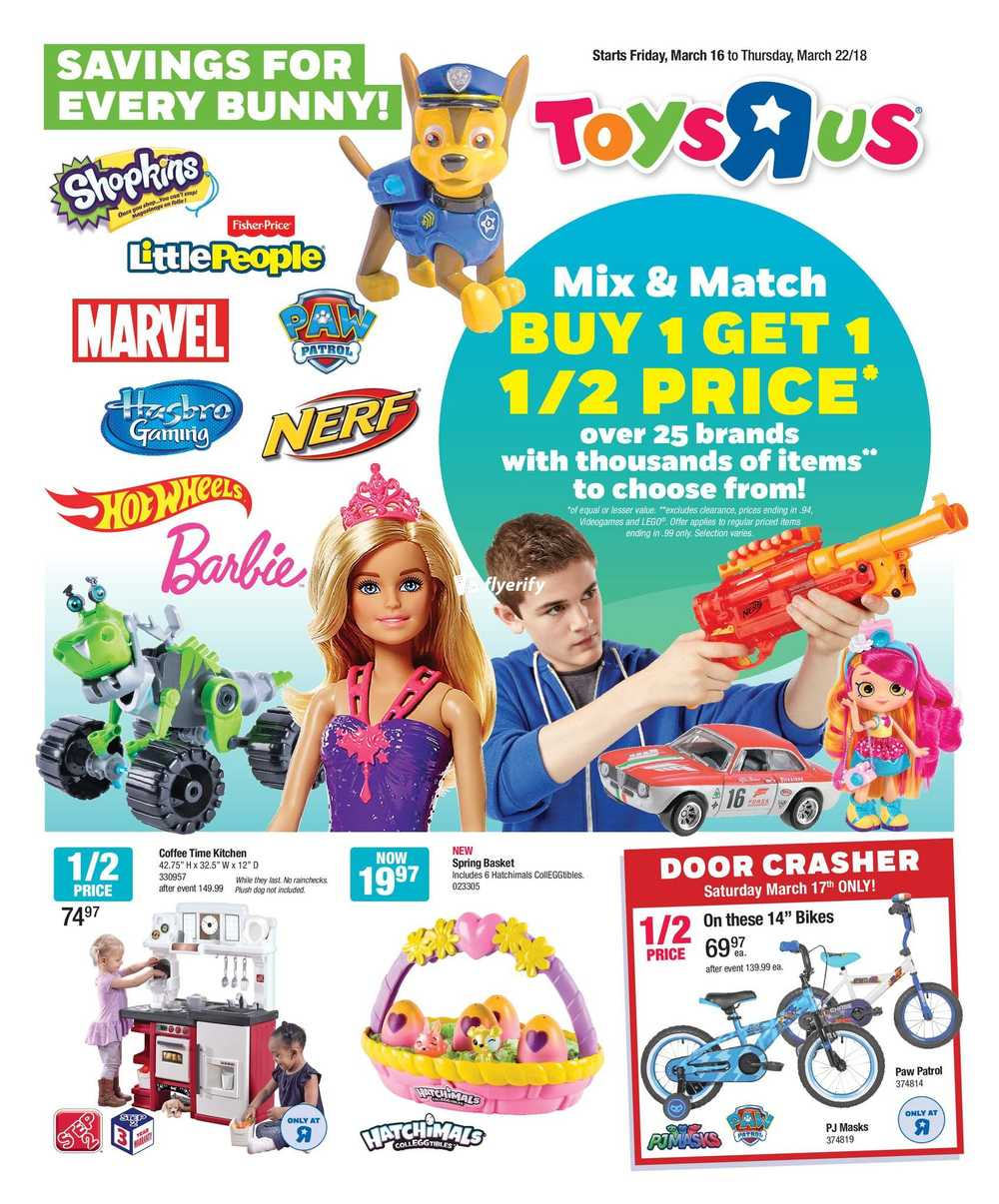 Toys R Us Flyer March 16 to 22 Canada