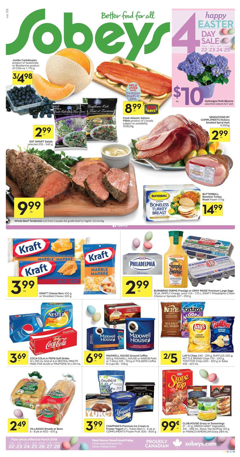 Sobeys On Flyer March 22 To 28 Canada