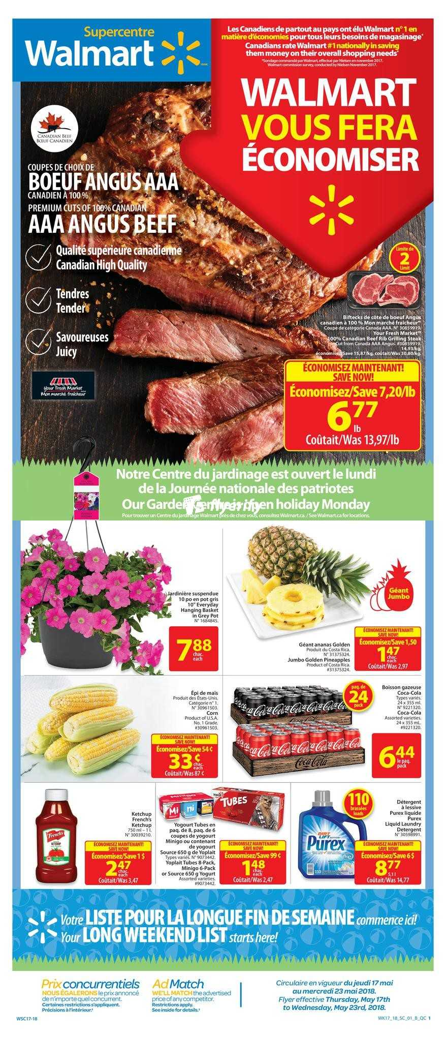 Walmart Supercentre (QC) Flyer May 17 to 23 Canada cb08aff6ef5