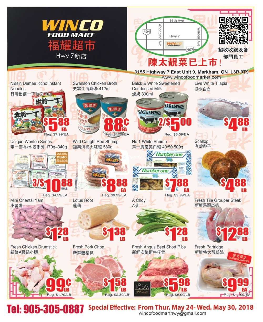 WinCo Food Mart (HWY 7) Flyer May 24 to 30 Canada