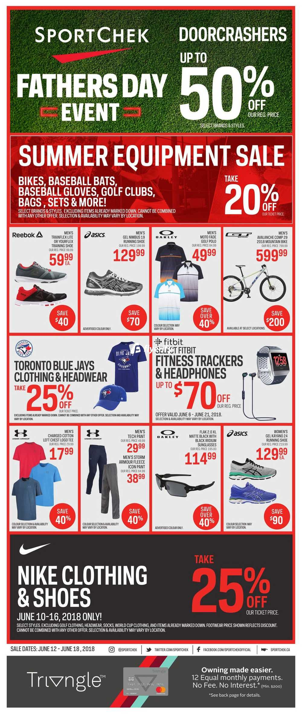 Sport Chek Flyer June 12 To 18 Canada