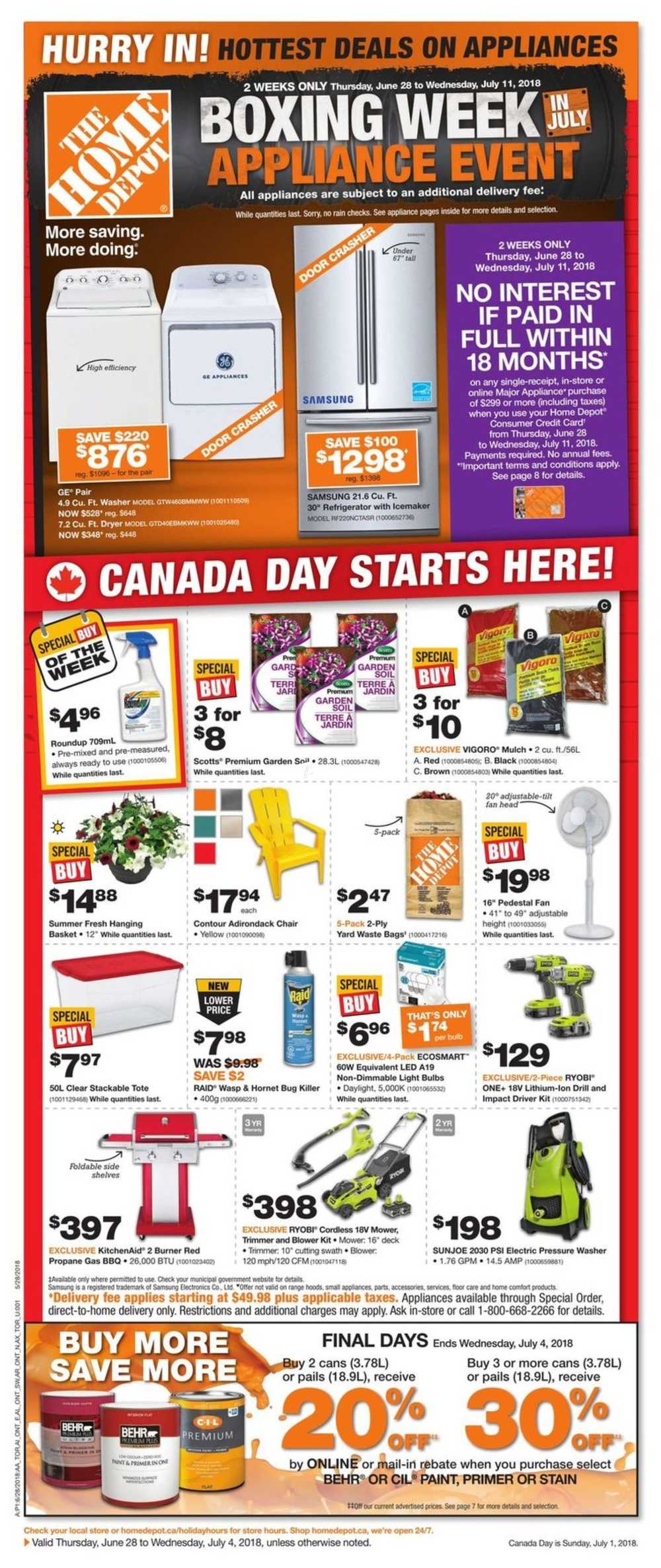 Home Depot Dartmouth Crossing Flyer