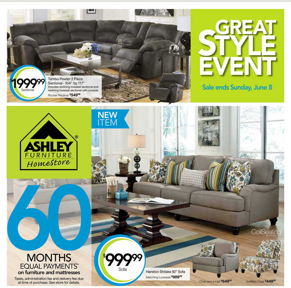 Ashley Home Furniture Ad: Ashley Furniture Homestore Flyers