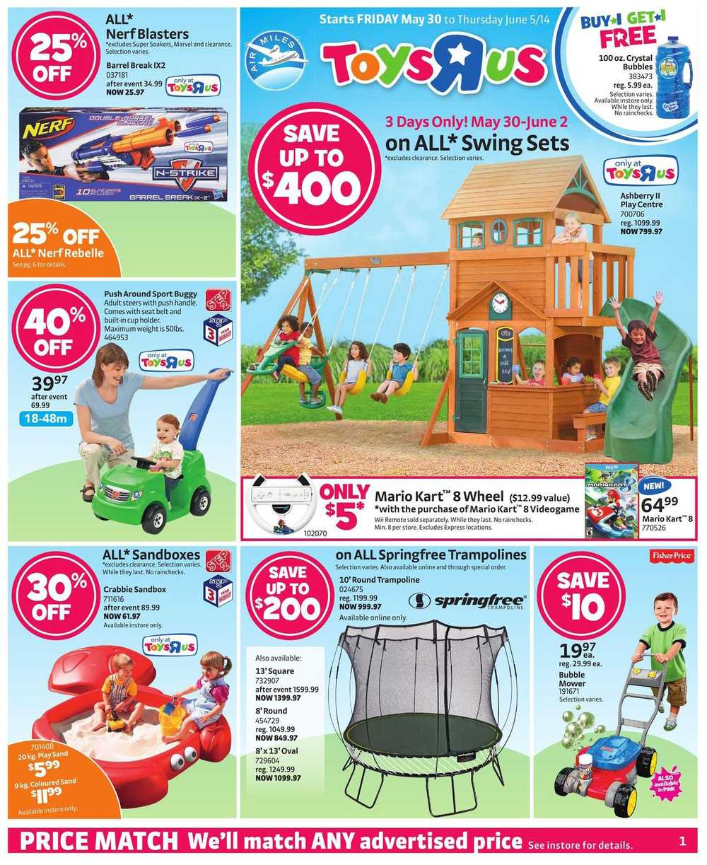 toys r us flyer may 30 to june 5 canada. Black Bedroom Furniture Sets. Home Design Ideas