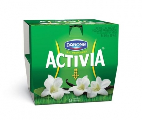Activia Probiotic Yogurt, 8 x 100 g