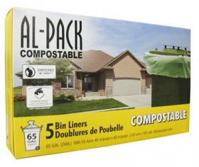 AL-PACK Compostable Bin Liner Bags