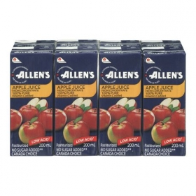Allen's Apple Juice, 4x8x200ML
