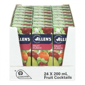 Allen's Fruit Punch Drink, 24x200ML
