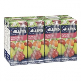 Allen's Fruit Punch Drink, 4x8x200ml