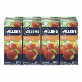 Allen's Peach Cocktail, 4x8x200ML