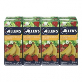 Allen's Strawberry - Banana, 4x8x200ML