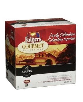 Folgers Gourmet Selections Lively Colombian 18 K-Cup Packs