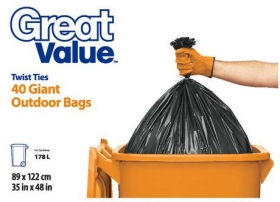 Great Value Giant Outdoor Garbage Bags