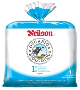 Neilson 1% Organic Milk Bag, 4 L