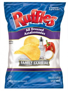 Ruffles All Dressed Simulated Flavour Potato Chips